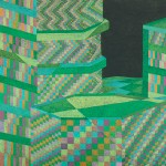 Relatividade Metropolitana nº 22 – óleo sobre tela, 1,70 x 1,10 m – 1991. Acervo do Artista