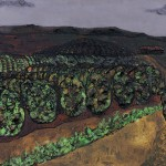 Cafezal – Técnica mista, 1,20 x 0,60 m – 1962. Acervo do artista.