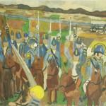 O Grito – Óleo sobre tela, 0,55 x 0,40 m – 1962. Acervo do artista.