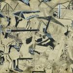 Feira Livre – Aquarela sobre cartão, 0,38 x 0,26 m – 1962. Acervo do artista.