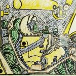 Conquista do Cosmos II: Alimentação – Aquarela sobre papel algodão, 0,60 x 0,40 m – 1962. Acervo do artista.