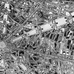 Centro de Controle da Cidade do Futuro nº 02 – Pintura e Colagem sobre compensado de madeira, 2,45 x 1,20 m, 1967. Obra participante da IX Bienal Internacional de São Paulo; Pertencente ao acervo da Rhode Island School of Design – EUA.