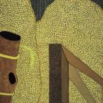 Arame Farpado e Porteira – óleo sobre tela, 1,00 x 0,80 m – 1973. Acervo do artista.