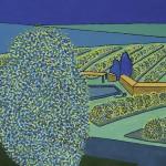 Fazenda de Café – óleo sobre tela, 1,20 x 0,80 m – 1973. Acervo do artista.