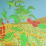Cafezal – óleo sobre tela, 1,10 x 0,80 m – 1974. Acervo do artista.