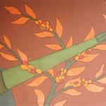 Canhão x Café – óleo sobre tela, 1,00 x 1,30 m – 1975. Acervo do artista.