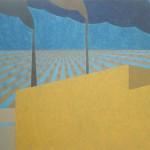 Sem título – têmpera ovo sobre tela, 1,95 x 1,30 m – 1976. Acervo do artista.