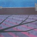 Geada-Poluição – têmpera ovo sobre tela, 1,95 x 1,30 m – 1977. Acervo do artista.