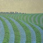 Cidade-Campo – óleo sobre tela, 0,80 x 0,60 m – 1978. Acervo do artista.