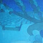 Café e Tanque nº 01 – óleo sobre tela, 1,60 x 1,00 m – 1978. Acervo do artista.