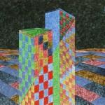 Cidade Campo – óleo sobre tela, 1,20 x 0,80 m – 1981. Acervo do artista.