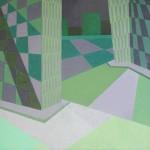 Confronto número 14 – óleo sobre tela, 1,00 x 1,00 m – 1982. Acervo do artista.