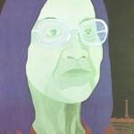 Retrato de Tomie Ohtake – óleo sobre tela, 0,80 x 1,00 m – 1983. Acervo do Museu de Arte Brasileira (MAB) - FAAP.