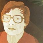 Retrato de Mira Schendel – óleo sobre tela, 0,80 x 1,00 m – 1983. Acervo do Museu de Arte Brasileira (MAB) - FAAP.