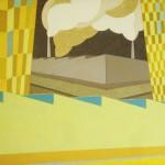 Paisagem Urbana Industrial – óleo sobre tela, 1,50 x 1,00 m – 1984. Acervo do artista.