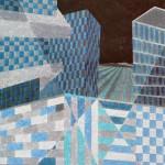 Relatividade Metropolitana nº 17 – óleo sobre tela, 1,00 x 1,40 m – 1991. Acervo do artista.