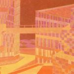 Relatividade Metropolitana nº 13 – óleo sobre tela, 1,80 x 1,50 m – 1991. Acervo do artista.