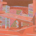 Relatividade Metropolitana nº 12 – óleo sobre tela, 1,50 x 1,00 m – 1991. Acervo do artista.