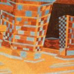 Relatividade Metropolitana nº 09 – óleo sobre tela, 0,80 x 0,50 m – 1991. Acervo do artista.