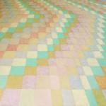 Cromatismo Geométrico nº 1 – óleo sobre tela, 1,50 x 1,20 m – 1991. Acervo do artista.