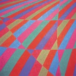 Curvas Vermelhas e Azuis – óleo sobre tela, 1,30 x 0,80 m – 1997. Acervo do artista.