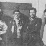 1978. Carlos von Schmidt, Ivald Granato, Aldir Mendes de Souza e Waldir Sarubi durante a exposição Paisagem Rural
