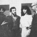 1978. Aldemir Martins, Carola Camargo Ticoulat, Aldir, Solange Mendes de Souza e Renato Ticoulat na exposição Paisagem Rural