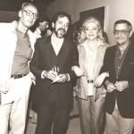 Ivo Zanini, Aldir Mendes de Souza, Neide Bonfiglioli e Antônio Henrique Amaral durante a exposição Geo/Metria