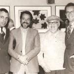 Gustavo Rosa, Aldir Mendes de Souza, Manezinho Araújo e Newton Mesquita durante a exposição Geo/Metria