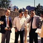 Aldir Mendes de Souza e Mário Covas, durante inauguração de instalação no Hospital do Servidor Municipal de São Paulo, 1987