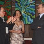 2004. Aldir, Solange Mendes de Souza e Alfons Hug na exposição Geometria Brasileira